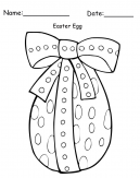 Printable Big Easter Egg Craft