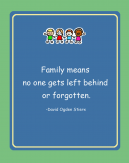 Never Forgotten Printable Family Quote