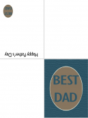 Printable Blue Father's Day Card