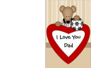 Printable Fathers Day Soccer Bear Cards