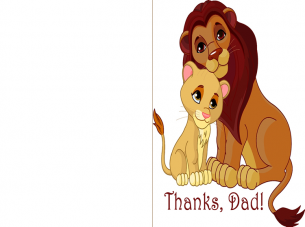 Printable Love Happy Father's Day Cards