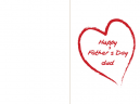 Printable Red Hearts Fathers Day Cards