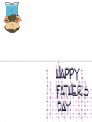 Purple Background Family Father's Day Card