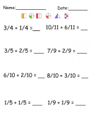 Math Fraction Worksheet