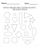 Matching Shapes Cool Math Printable Games