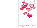 Printable Cascading Hearts Valentines Day Cards