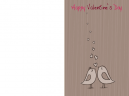 Printable Kissing Doves Valentine's Day Cards