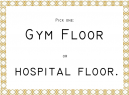 Gym Floor Funny Quotes