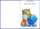 Let's Play Bear Get Well Card