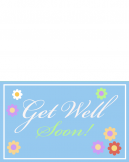 Printable Get Well Soon Floral Cards