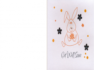 Printable Bunny Rabbit Get Well Soon Cards