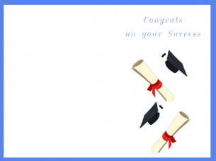 picture relating to Graduation Cards Printable named Congrats Upon Your Good results Playing cards