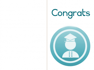 Printable Blue Graduation Card