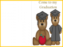 Come to My Graduation Printable Bear Invitation