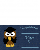 Printable Dark Blue Owl Graduation Invitations