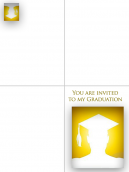 Printable Graduation Cap Invitations