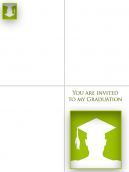 printable Green Graduation Invitation