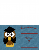 Printable Light Blue Graduation Invitations