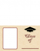 Printable Red Frame Graduation Invitations