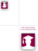 Printable Red Graduation Invitation