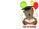 Printable Teddy Bear Graduation Invitations