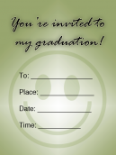 Smiley Printable Graduation Invitation