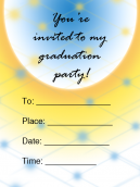 Sun Printable Graduation Invitation