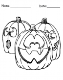 Pumpkin Printable Halloween Coloring Page