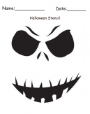 Ghost Stencil Printable Halloween Craft
