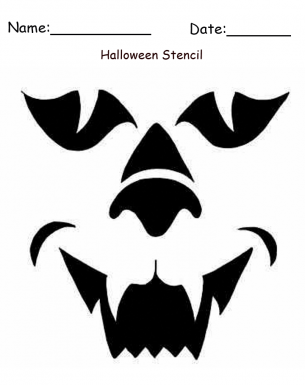 Printable Werewolf Halloween Craft