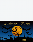 Halloween Moon Printable Invitations