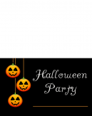 Hanging lantern Printable Halloween Invitation