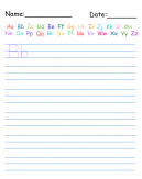 Letters Handwriting Worksheet
