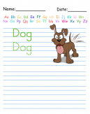 Trace the Word Dog Printable Worksheets