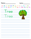 Trace the Word Tree Printable Worksheets