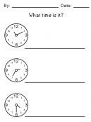 How to Tell Time on a Clock Printable Worksheets