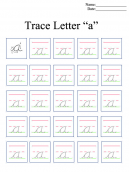 Letter A Printable Worksheets