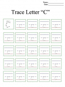 Letter C Printable Worksheets