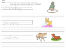 Monkey Worksheet