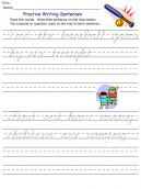 Printable Baseball Cursive Kids Worksheets