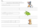 Printable Cursive Lessons Worksheet
