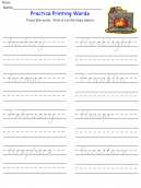 Printable F Words Kids Worksheets