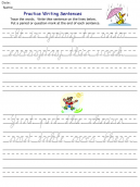 Printable Word Practice Worksheets
