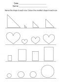Smallest Objects Printable Worksheets