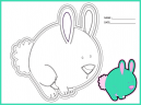 Printable Bunny Coloring Kindergarten Worksheet