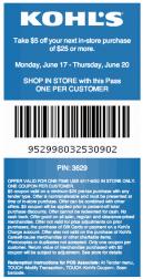 Printable Kohls Discount Coupons