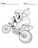 Mario Bike Printable Coloring Pages
