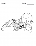 Mushroom Mario Printable Coloring Pages