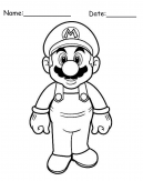 Standing Mario Printable Coloring Pages