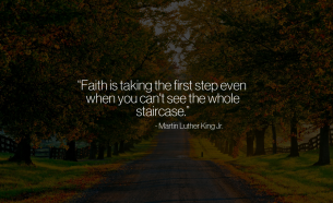 Martin Luther King Faith Quote